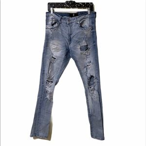 Jordan Craig Light Wash Distressed Skinny Jeans